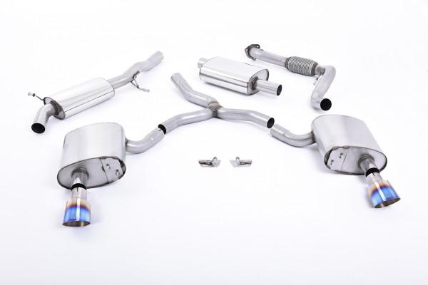 Milltek SSXAU610 Cat-back GT-100 - Audi A4 2.0 TFSI B9 Quattro Saloon & Avant (Without Brace Bars) (