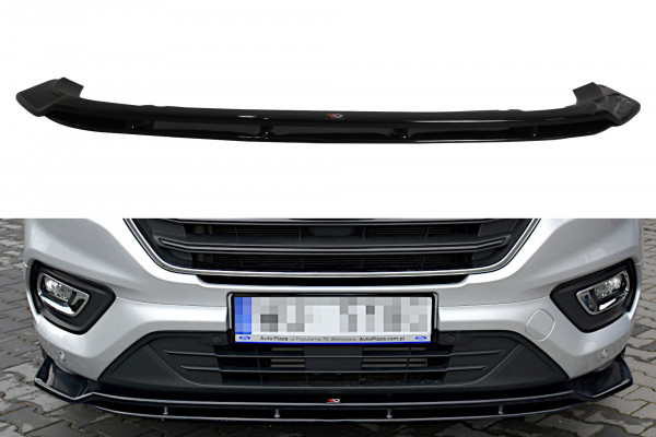 Front Ansatz passend für Ford Transit Custom Mk.1 FL schwarz Hochglanz