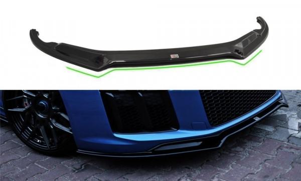 Front Ansatz passend für V.2 passend für AUDI R8 II schwarz Hochglanz schwarz Hochglanz