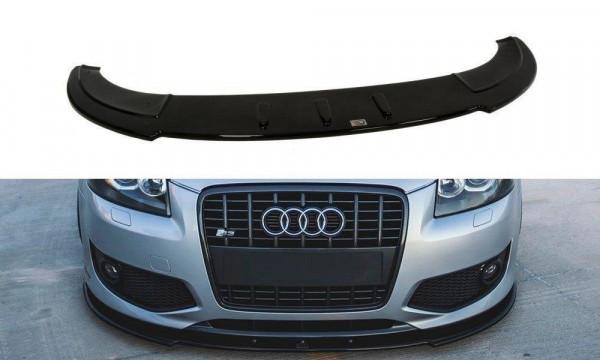 Front Ansatz für Audi S3 8P schwarz Hochglanz