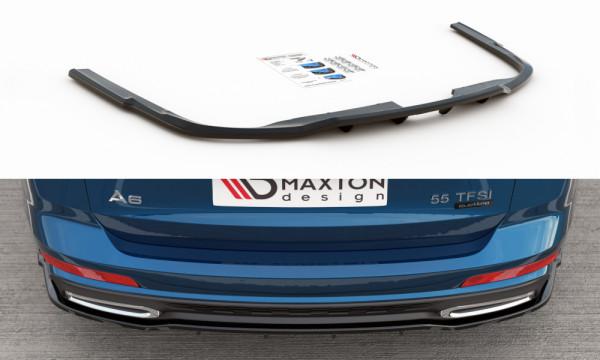 Mittlerer Diffusor Heck Ansatz passend für (mit einem vertikalem balken) Audi A6 S-Line Avant C8 sch