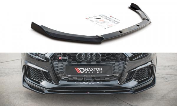 Front Ansatz V.3 passend für Audi RS3 8V FL Sportback schwarz matt