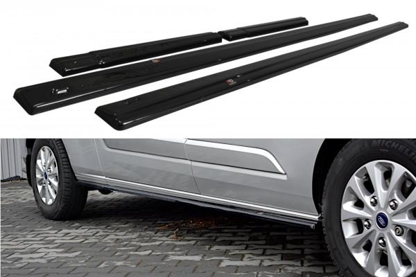 Seitenschweller Ansatz passend für Ford Transit Custom Mk1 FL schwarz Hochglanz