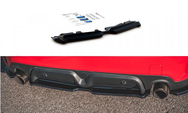 Mittlerer Diffusor Heck Ansatz passend für Mini Countryman Mk2 F60 JCW schwarz Hochglanz