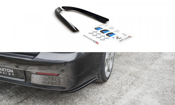 Heck Ansatz Flaps Diffusor passend für Alfa Romeo 156 SW Facelift schwarz Hochglanz
