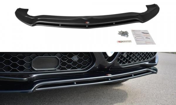 Front Ansatz V.2 passend für Alfa Romeo Stelvio schwarz Hochglanz