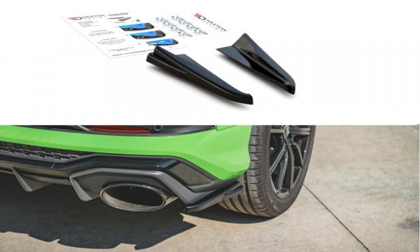 Heck Ansatz Flaps Diffusor passend für Audi RSQ3 F3 schwarz Hochglanz
