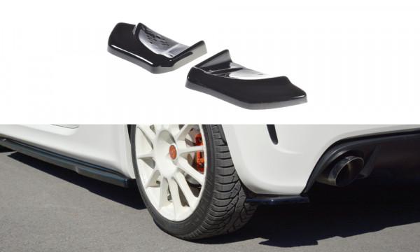 Heck Ansatz Flaps Diffusor passend für passend für FIAT 500 ABARTH MK1 schwarz matt schwarz matt