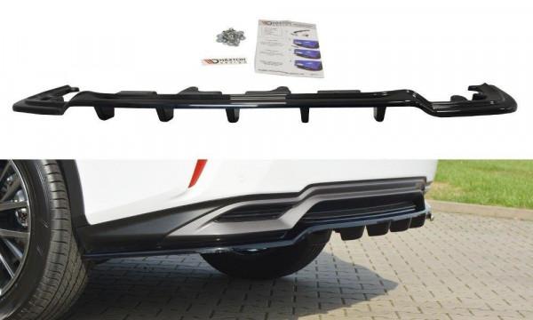 Mittlerer Diffusor Heck Ansatz für Lexus RX Mk4 H DTM LOOK schwarz Hochglanz