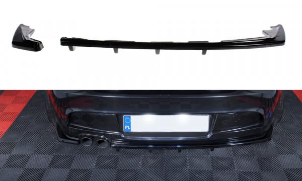 Mittlerer Diffusor Heck Ansatz passend für im DTM LOOK BMW 1er E81/ E87 M Paket FACELIFT schwarz ma