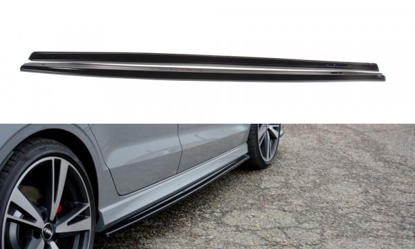 Seitenschweller Ansatz passend für Audi RS3 8V FL Sedan schwarz matt
