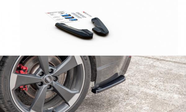 Heck Ansatz Flaps Diffusor V.2 passend für Audi RS3 8V Sportback schwarz Hochglanz