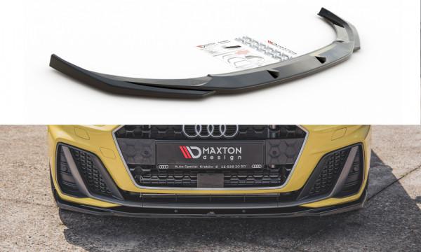 Front Ansatz V.2 passend für Audi A1 S-Line GB schwarz Hochglanz