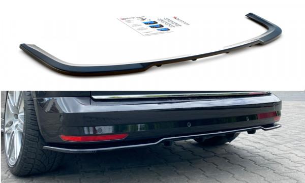 Mittlerer Diffusor Heck Ansatz passend für (mit einem vertikalem balken) Volkswagen Caddy Mk. 4 schw
