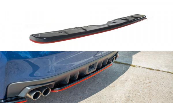Mittlerer Diffusor Heck Ansatz passend für V.2 SUBARU WRX STI Carbon Look