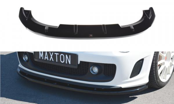 Front Ansatz passend für V.2 passend für FIAT 500 ABARTH MK1 schwarz Hochglanz schwarz Hochglanz