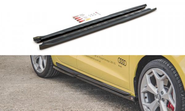 Seitenschweller Ansatz passend für Audi A1 S-Line GB schwarz matt