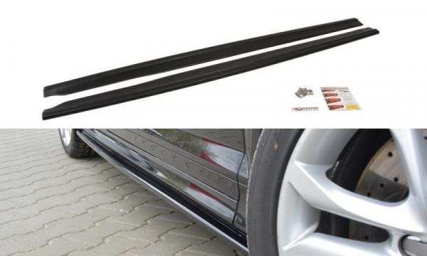Seitenschweller für Ansatz Cup Leisten Audi S3 8P / S3 8P FL / RS3 8P schwarz matt