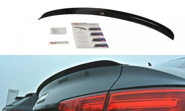 Spoiler CAP passend für Audi A4 S-Line B9 Sedan schwarz Hochglanz