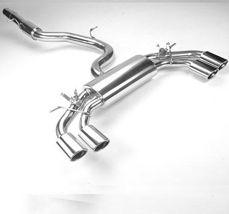 ROAR 76mm exhaust system with flap, Volkswagen Golf VII R 2.0 TSI (300 hp), 2014-2016