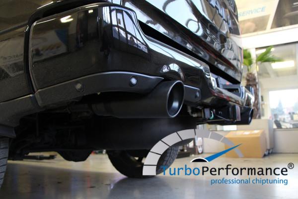"""biG one Sport Abgasanlage Dodge / RAM (Gen.5) ab Bj:2019+, 5,7L, Endrohr schwarz 5"""" (130mm), TÜV"""