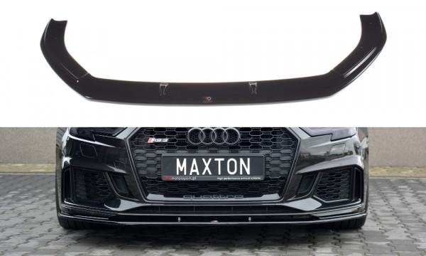 Front Ansatz V.1 passend für Audi RS3 8V FL Sportback schwarz Hochglanz