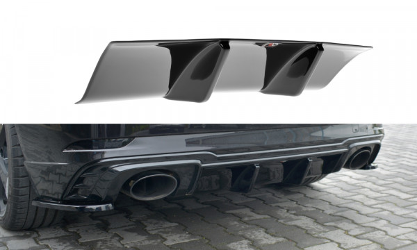 Diffusor Heck Ansatz passend für Audi RS3 8V FL Sportback schwarz matt