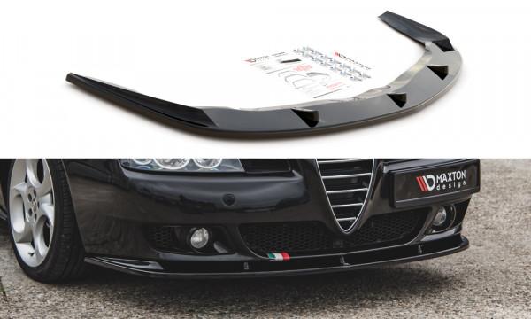 Front Ansatz passend für Alfa Romeo 156 Facelift schwarz Hochglanz