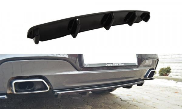 Mittlerer Diffusor Heck Ansatz für BMW 6er Gran Coupé M Paket DTM LOOK schwarz Hochglanz