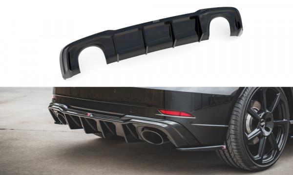 Diffusor Heck Ansatz V.2 passend für Audi RS3 8V Sportback Facelift schwarz matt
