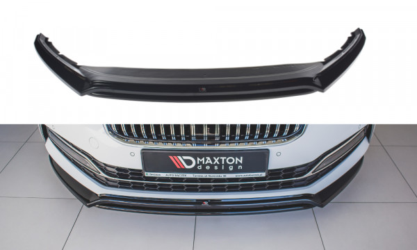 Front Ansatz passend für V.3 passend für Skoda Superb Mk3 FL Carbon Look Carbon Look