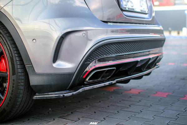 Mittlerer Diffusor Heck Ansatz passend für im DTM LOOK Mercedes GLA 45 AMG SUV (X156) vor Facelift C