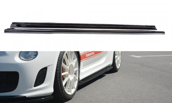 Seitenschweller Ansatz passend für passend für FIAT 500 ABARTH MK1 schwarz Hochglanz schwarz Hochgla