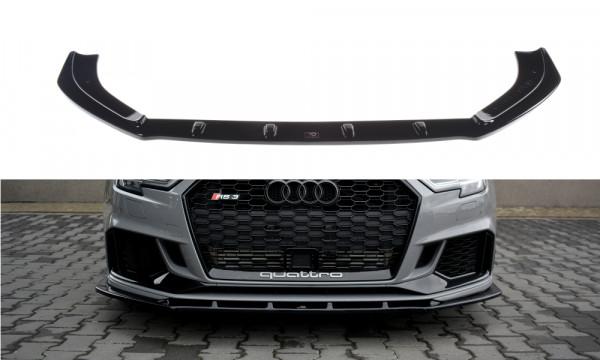 Front Ansatz V.1 passend für Audi RS3 8V FL Sedan schwarz Hochglanz