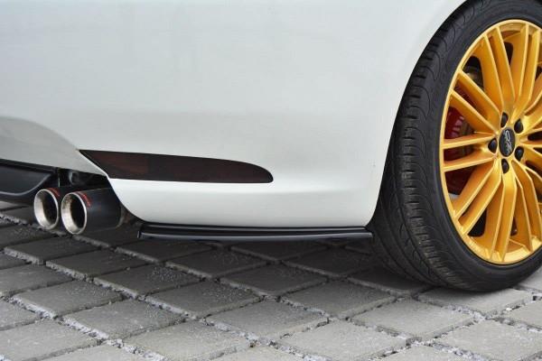 Heck Ansatz Flaps Diffusor passend für Alfa Romeo GT schwarz matt