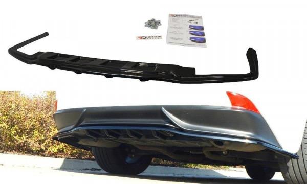 Mittlerer Diffusor Heck Ansatz für Lexus IS Mk3 H DTM LOOK schwarz Hochglanz