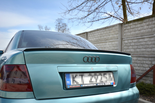 Spoiler CAP passend für Audi A4 / S4 B5 Sedan schwarz matt